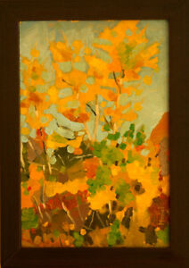 Deacon Foliage Study - oil painting by John Musial