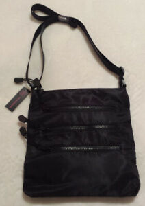 BRAND NEW CROSSBODY PURSES x3 (NO BOUNDARIES), BLACK & MULTI