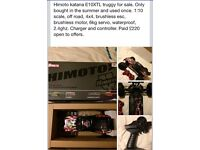 Hi moto electric car rc 4x4 wheel drive buggy truggy lipo remote control brushless water proof