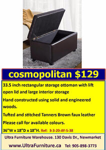 Storage ottoman clear out ! Limited Supply !