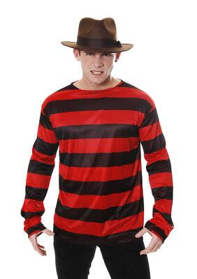 Halloween Freddy Kruger Rosso e Nero Camicia a Righe - Misura Adulto Costume](Freddy Kruger Costume)