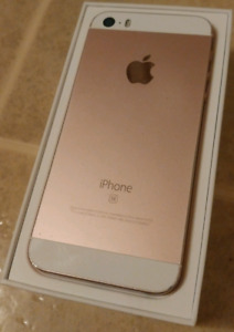 Unlocked 64gb Rose Gold iPhone SE with original box and case