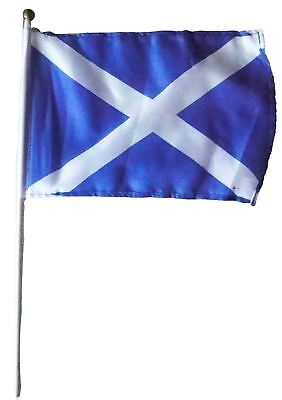 Small Hand Held Flag Saltire 9� X 6� Saltire Design Scottish Flag