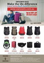Swisswin Bag&Luggage online shop: WWW.SWISSWIN.COM.AU  50% Off Sydney Region Preview