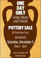 Pottery Sale December 5th