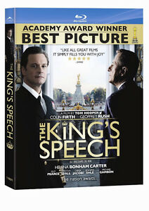The King's Speech-Blu-Ray-Colin Firth,Geoffrey Rush-+ bonus dvd