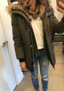 Manteau Mackage Marla Coat in khaki (XS)