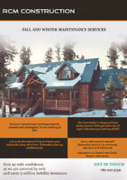 Snow Removal, Yard Cleanups, Eavestrough Cleaning.