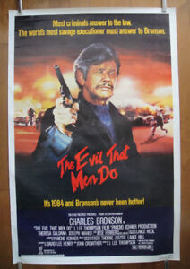The Evil That Men Do (1984) Original Rolled Movie Poster