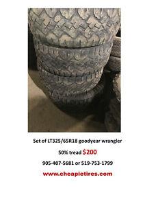 LT325/65R18 goodyear wrangler