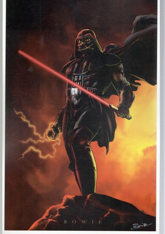 Star Wars AHSOKA TANO Print HAND SIGNED by Artist Damon Bowie w COA