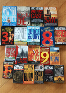 20 James Patterson Novels