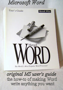 User's Guide – Word, version 6 for Windows and Apple Mac