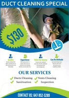 SUMMER HOT DEAL FOR DUCT CLEANING WITH UNLIMITED VENTS $129.99