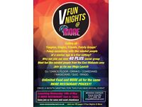V Fun Nights @MORE Restaurant - 40 to 55's mid-week Social Group