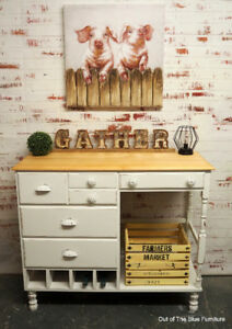 Beautiful upcycled kitchen island