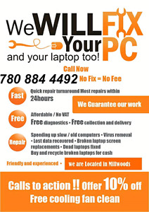 Cheapest computer repair service at your door.