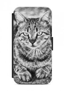 HTC-ONE-GATTO-CAT-ANIMALE-CUSTODIA-FLIP-Case-Cover-Protezione-cellulare-V10