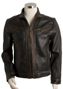 ANDREW MARC NEW YORK GENUINE LEATHER MENS MOTORCYCLE JACKET