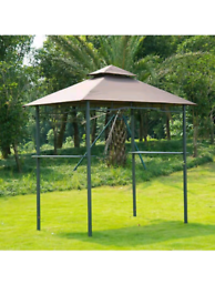 Double-tier BBQ Gazebo Shelter