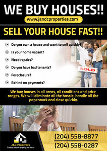 Call us and get a no obligation cash offer for your home.