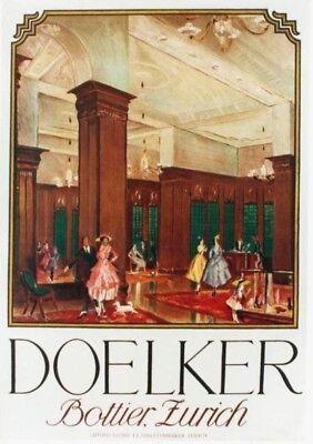 Original vintage poster DOELKER SWISS FASHION STORE 1920