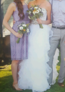 Lilac Lace Dress from HUSH - WORN ONCE as a bridesmaid dress!