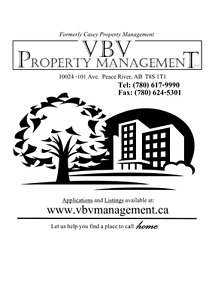 Peace River Rental Units Available   *Furnished and Unfurnished*