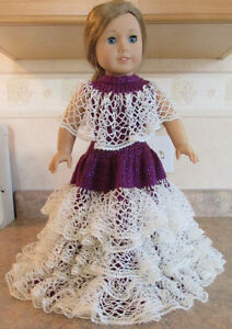 AMERICAN GIRL DOLL EVENING GOWN HAND KNIT