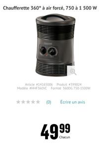 Chaufferette - Heater - Honeywell - 1500W