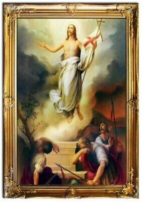tus Handarbeit Ölbild Ölbilder Rahmen Bilder Auferstehung (Religiöses Kunsthandwerk)