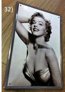 Marilyn Monroe Black and White Portrait Metal Plaque/Plate Sign