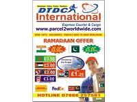 FROM £1.50 KG-SEND CARGO/PARCEL/SHIPPING/DOCUMENTS TO INDIA -EUROPE-USA-DUBAI-MIDDLEEAST N WORLDWIDE