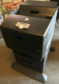Dell 5110cn laser printer with extra paper drawers