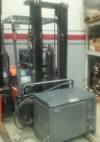 Toyota electric high reach fork truck
