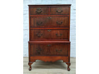Queen Anne Style Chest Of Five Drawers (DELIVERY AVAILABLE)
