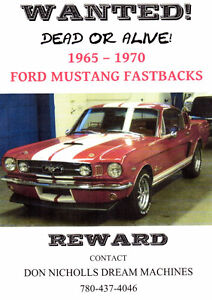WANTED DEAD OR ALIVE 1965-1970 FORD MUSTANG FASTBACKS