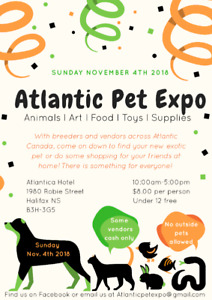 Atlantic Pet Expo - Live Reptiles and Fish and Pet Supplies