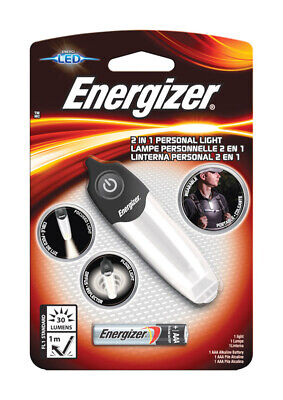 Used, Energizer  30 lumens Black/Silver  LED  Flashlight  AAA Battery for sale  Shipping to India