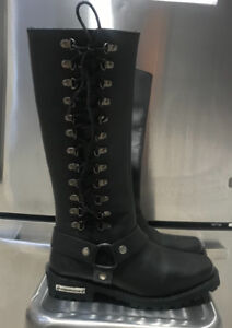 MILWAUKEE LEATHER RIDING BOOTS 8.5 WOMENS