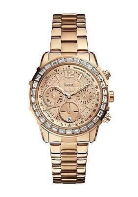 Guess Ladies Rose Gold Designer Watch RRP £239 - UK Warranty W0016L5 SALE