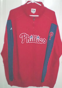 Phillies Mens XL Pullover Jacket plus Bonus