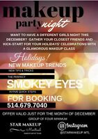 Invite your friends to a makeup party night!
