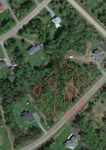 Treed lot in riverbend subdivision .upper coverdale