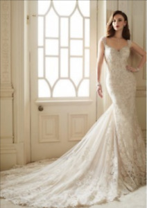 Lace Mermaid Wedding Dress With Cap Sleeve