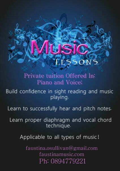 Singing & Piano Lessons