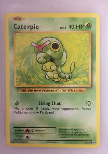 Brand New Caterpie - 3/108 - Pokemon Card  In Protective Sleeve