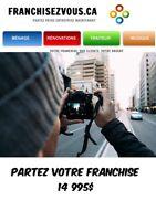 **** FRANCHISE PHOTOGRAPHIE et AUTRES FRANCHISES****