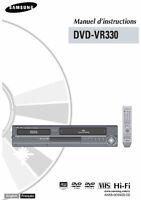 Lecteur-Enregistreur DVD/VHS SAMSUNG DVD-VR330