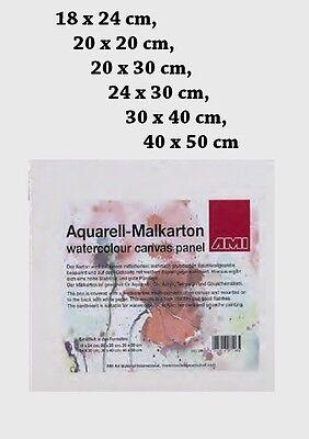Aquarell Öl Acryl Tempera Gouache Malkarton Malpappe Malplatte 6 Größen wählbar
